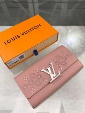 M62556 Louis Vuitton/LV clamshell triple-folding snap longwallet gorgeous clutch decorated with delicate metal LV buckle