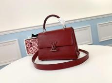 M53695 Louis Vuitton/LV Grenelle retro flap messenger handbag magnetic lock crossbody shoulder bag with four protective sphere studs at bottom