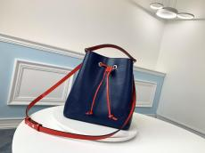 M54366 Louis Vuitton/LV lockme drawstring tassel bucket casual color-contrast crossbody bag
