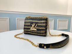 M50332 Louis Vuitton/LV twist sling-chain cross-body shoulder bag vintage Popper hardware with distinctive Twist lock