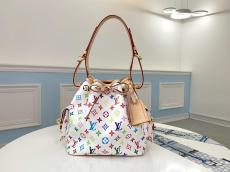 Louis vuitton/LV monogram canvas printing drawstring bucket bag gorgeous street landscape