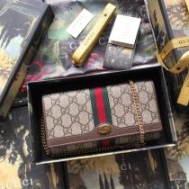 Gucci ophidia flap wallet-style woc multi-slots sling-chain crossbody square bag phonebag