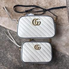 Gucci marmont V-shape quited single zipper tassel camera bag retro messenger bag double size