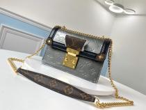 M90516 Louis Vuitton/LV female wynwood attention-capturing mixed-material retro messenger shoulder bag idea daily companion golden hardware