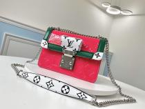 M90516 Louis Vuitton/LV female wynwood mixed-material retro sling-chain messenger shoulder bag idea daily companion silver hardware