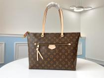 M41013  Louis VUitton/LV female practical damier canvas zipper lightweight shopping tote bag with outside pocket