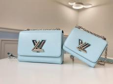 M56372 Louis Vuitton/LV female plain twist-lock sling chain crossbody shoulder bag wonderful birthday gift for lover and intimate