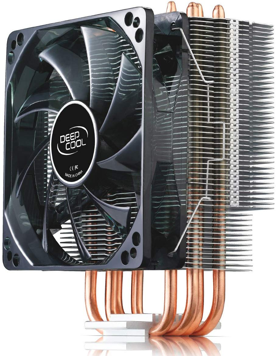 120mm PWM Fan and White LED for Intel//AMD CPU AM4 Compatible DEEPCOOL GAMMAXX 400WH CPU Air Cooler with 4 Heatpipes