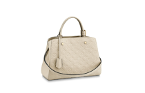Louis Vuitton Monogram Empreinte Montaigne MM Bag White M44061