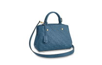 Louis Vuitton Monogram Empreinte Montaigne PM Bag Blue M44314
