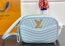 Louis Vuitton Monogram Empreinte New Wave Camera Bag Blue M53682