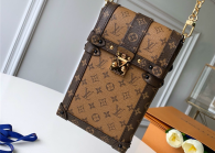 Louis Vuitton Monogram Canvas Trunk Vertical Chain Bag Brown M63913