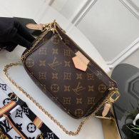 Louis Vuitton Monogram Canvas Mini Pochette Accessories Bag Brownness M44813