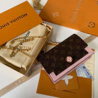 Louis Vuitton Monogram Canvas Flore Chain Wallet Pink M67045