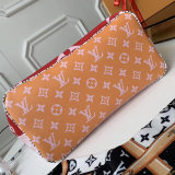 Louis Vuitton Monogram Giant Canvas Neverfull MM Tote Bag Red M44567