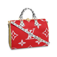 Louis Vuitton Monogram Giant Canvas Speedy Bandouliere 30 Handbag Bag Red M44573