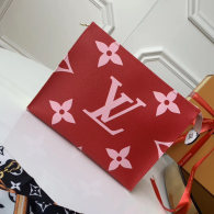 Louis Vuitton Monogram Canvas Toilet Pouch XL Flower Pattern Bag Red M67692