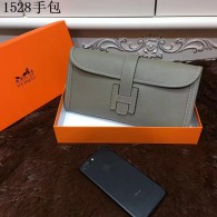Hermes Clutches 29CM Cowhair Leather Evening bag Khaki H1528