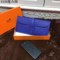 Hermes Clutches 29CM Cowhair Leather Evening bag Blue H1528