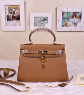 Hermes Kelly 32CM Cowhide Leather Khaki/Gold Hardware Handbag Bag H8532