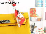 Hermes Kelly 32CM Cowhide Leather Yellow/Silver Hardware Handbag Bag H8532