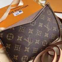 Louis Vuitton Monogram Canvas Pallas Cluth Chain Bags Apricot M41639