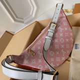 Louis Vuitton Monogram Canvas Bumbag Pattern Women's Waist Bags Red M44575