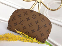 Louis Vuitton Monogram Canvas Cosmetic Pouch Coin Purse Handbag Khaki M47515