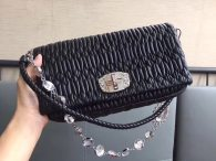MIU MIU CLASSIC CRYSTAL HANDBAG BAG SHOULDER·BAG 5BD233 BLACK