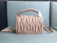 MIU MIU Woman's Bag Shoulder Bag Sheepskin Leather Apricot 5BD051