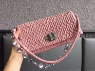 MIU MIU CLASSIC CRYSTAL HANDBAG BAG SHOULDER·BAG 5BD233 PINK
