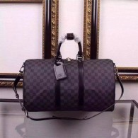 Louis Vuitton Damier Graphite Canvas Keepall Bandouliere 50 Tote Bag N41416