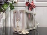 Louis Vuitton Highly Resistant Transparent PVC With Cowhide Leather Soft Trunk Bag White M55602