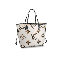 Louis Vuitton Monogram Canvas Neverfull MM Tote Bag White M44676