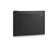 Louis Vuitton Damier Lnfini Leather Discovery Clutch Pochette Bag Black N60112