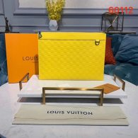Louis Vuitton Damier Lnfini Leather Discovery Clutch Pochette Bag Yellow N60112