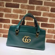 Gucci Arli Large Python Double G Top Handle Bag Green Leather 550130