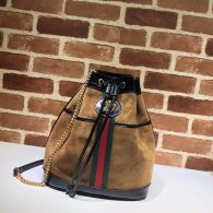 Gucci Ophidia Bucket Bag Suede Women's Bag Brown 553961