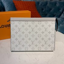 Louis Vuitton Monogram Canvas Pochette Voyage MM White N60241