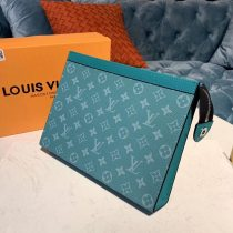 Louis Vuitton Monogram Canvas Pochette Voyage MM Blue N60241