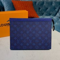 Louis Vuitton Monogram Canvas Pochette Voyage MM Sapphire Blue N60241