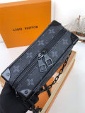 Louis Vuitton Monogram Eclipse Canvas Mini Soft Trunk Bag Black M44480