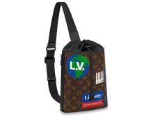 Louis Vuitton Monogram Canvas Chalk Sling Bag M44625