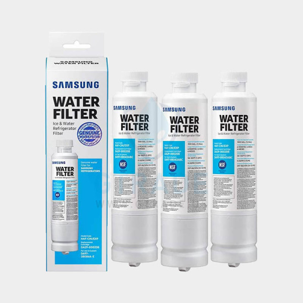 Samsung Electronics HAFCIN Samsung 20BF Refrigerator Water Filter, 3 Pack, White