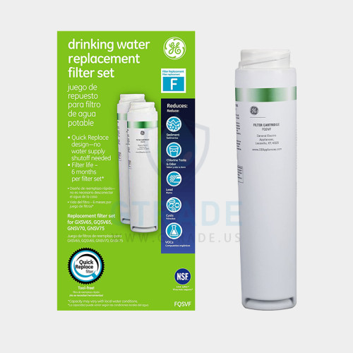 GE FQSVF screen printing Refrigerator Filter  1pack