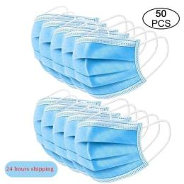 50Pcs/Lot Disposable Masks 3-Layer Non-Woven Masks Anti Virus Dust Mouth Face Mask Protection Soft Protective Mask