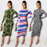 2020  Fashion Half Turtleneck Dress 202002246276