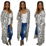 2020 Fashionable City Leisure Loose Stretch Good Stripe Grid Cardigan Long Sleeve BlouseFor Lady 20200228270