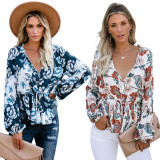 2020 Urban Leisure Fashion Comfortable Breathable Stretch Good Print Long Sleeve Blouse Autumn 20200229271