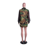 2020 Street Fashion Trend Loose Camouflage Mesh Hollow Stitching Thick Long-sleeved Jacket Autumn 20200227246